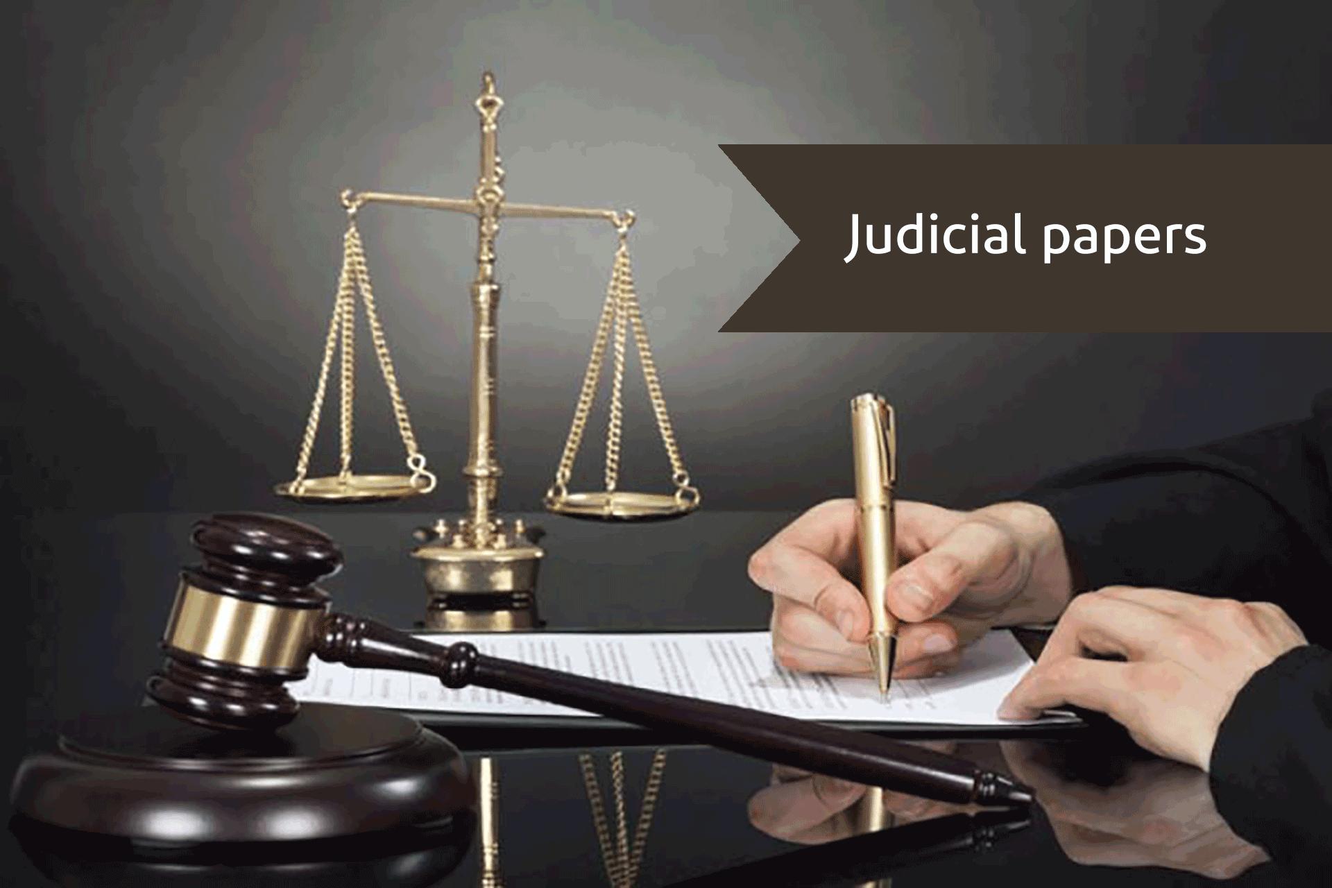 Judicial paper