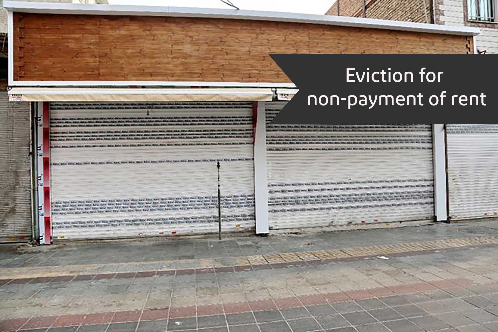 Eviction for non-payment of rent